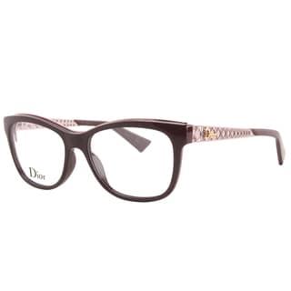 Dior Diorama 01 F8P Burgundy Pink Plastic Rectangular Eyeglasses