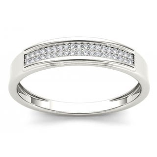 Link to De Couer S925 Sterling Silver 1/8ct TDW Diamond Men's Band Similar Items in Wedding Rings