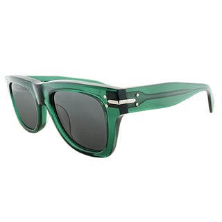 Celine CL 41038 4W7 Transparent Green Plastic Rectangle Grey Lens Sunglasses