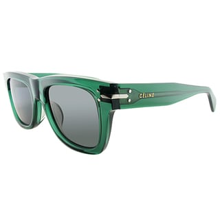 Celine CL 41046/F 4W7 Transparent Green Plastic Square Grey Lens Sunglasses