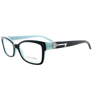 Tiffany TF 2064B 8055 Black on Tiffany Blue Plastic 51-millimeter Rectangle Eyeglasses