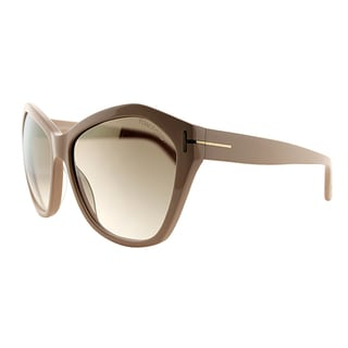 Tom Ford TF 317 72L Angeline Blush Plastic Fashion Brown Gradient Lens Sunglasses