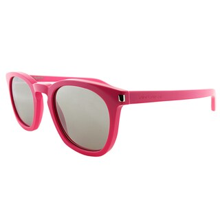 Saint Laurent SL 28 GG GG4 Hot Pink Plastic Square Silver Mirror Lens Sunglasses