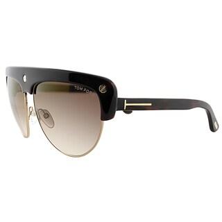 Tom Ford TF 318 52G Liane Dark Havana Plastic Fashion Brown Gradient Lens Sunglasses
