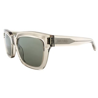 Saint Laurent SL Bold1 I4J Transparent Grey Plastic Square Grey Lens Sunglasses
