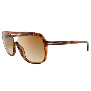 Tom Ford TF 442 50F Robert Light Havana Plastic Square Brown Gradient Lens Sunglasses