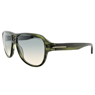 Tom Ford TF 446 95B Dylan Grey Horn Plastic Square Grey Gradient Lens Sunglasses