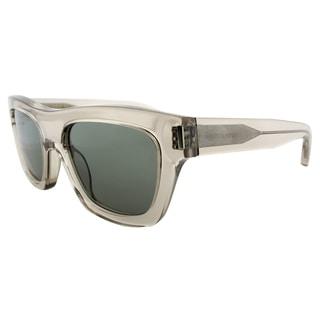 Saint Laurent SL Bold4 I4J Transparent Grey Plastic Rectangle Grey Lens Sunglasses