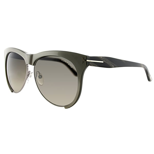 b993c0bfc3 Tom Ford TF 365 38B Leona Grey Plastic Square Grey Gradient Lens Sunglasses