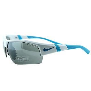 Nike EVO 678 144 Show X2 Pro White Electric Blue Plastic Sport Grey Interchangeable Lens Sunglasses