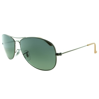 Ray-Ban RB 3362 029/71 Cockpit Matte Gunmetal Metal Aviator Green Gradient Lens Sunglasses