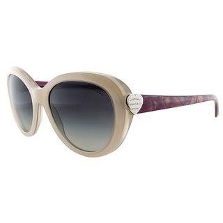 Tiffany TF 4113 81703C Tan Plastic Cat-Eye Grey Gradient Lens Sunglasses