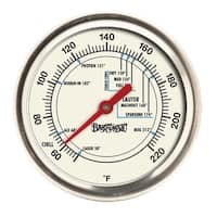 Bayou Classic Silvertone/Red Stainless Steel 12-inch Brew Thermometer