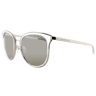 Michael Kors MK 1010 11026G Adrianna I Clear Silver Plastic Cat-Eye Silver Mirror Lens Sunglasses