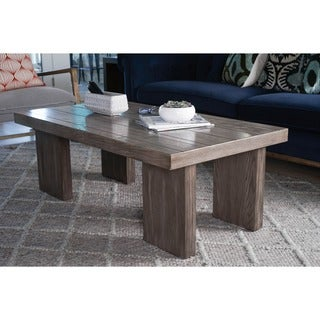 Haven Home Walker Rectangle Wood Grey Coffee Table by Hives & Honey