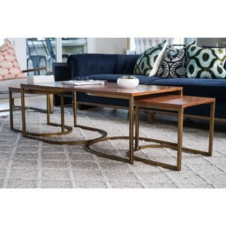 Lincoln Deco Walnut Nesting Coffee Tables, Haven Home by Hives & Honey