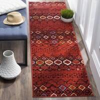 Safavieh Amsterdam Bohemian Terracotta/ Multicolored Runner Rug