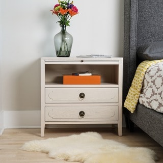 White Grant 2-drawer Large Nightstand by Haven Home