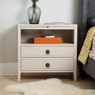 Haven Home Grant White Nightstand End Table