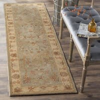 Safavieh Antiquity Traditional Handmade Light Grey/ Beige Wool Runner Rug - 2' 3 x 8'