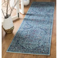 Safavieh Artisan Vintage Light Blue Distressed Runner (2' x 8')