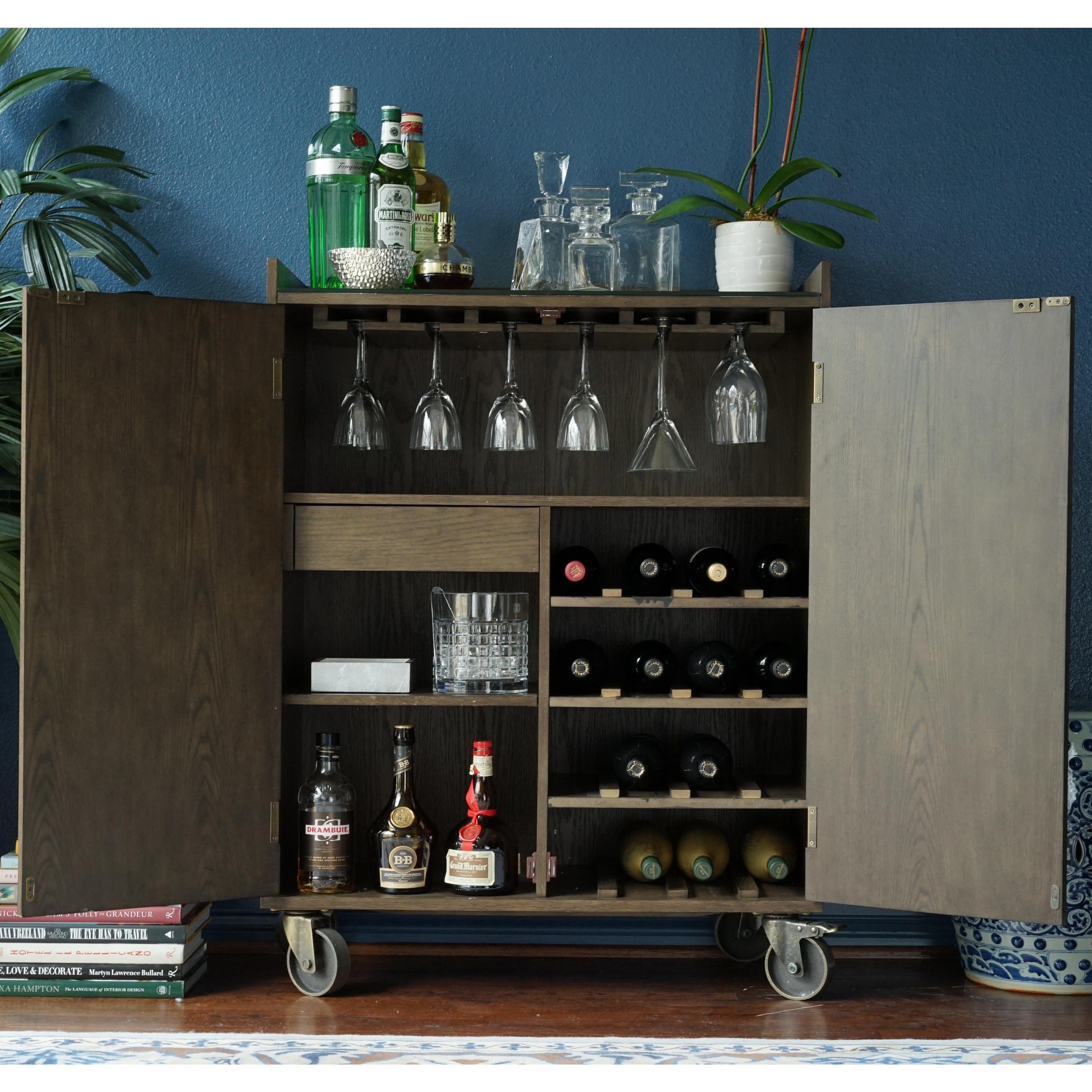 Haven Home Smith Walnut Bar Cart by Hives & Honey (Burnis...