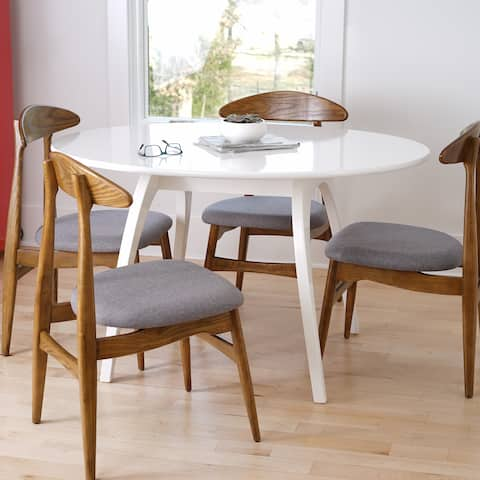 Posh Pollen Beckett White Oval Table by Hives & Honey