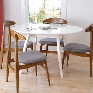 Haven Home Beckett White Oval Table by Hives & Honey