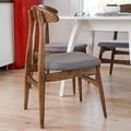 Haven Home Philip Walnut Dinning Chair by Hives & Honey (Set of 2)
