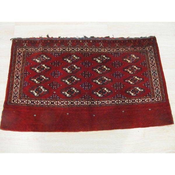 Hand Tufted Traditional Oriental Red Wool Rug With Non: Shop Hand-knotted Wool Red Traditional Oriental Khorjin
