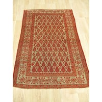Hand-knotted Wool Rust Traditional Oriental Malayer Rug (3'1 x 4'6)