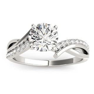 Transcendent Brilliance Infinity Split Shank Diamond Engagement Ring 5/8 TDW