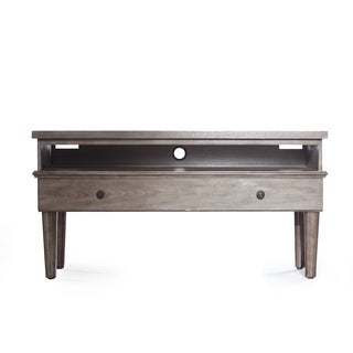 Maxwell Grey Wooden Entertainment Center, Haven Home by Hives & Honey