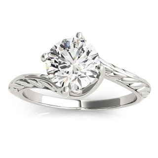 Transcendent Brilliance Curved Band Solitaire Diamond Engagement Ring 1/2 TDW