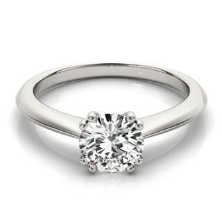 Transcendent Brilliance 14k Gold Petite Solitaire Diamond Engagement Ring 1/2 TDW