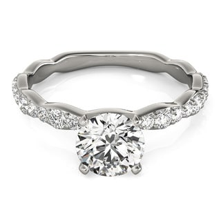 Transcendent Brilliance Petite Curved Shank Diamond Engagement Ring 4/5 TDW