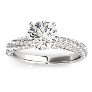 Transcendent Brilliance 14k Gold MultiRow Diamond Engagement Ring 1 1/10 TDW
