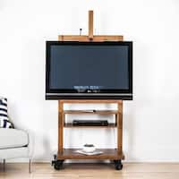 Cullen Deco Walnut TV Stand Entertainment Center, Haven Home by Hives & Honey