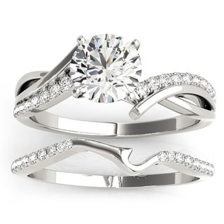 Transcendent Brilliance Infinity Split Shank Diamond Bridal Ring Set 3/4 TDW