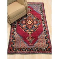 Hand-knotted Wool Red Traditional Oriental Dagestan Rug (3'10 x 6'5)