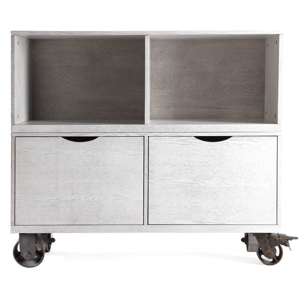 The Gray Barn Brick House Grey Storage Cabinet with Casters