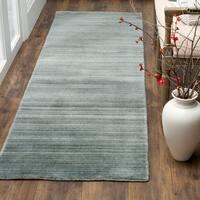 Safavieh Handmade Himalaya Slate/ Blue Wool Runner Rug - 2' 3 x 8'