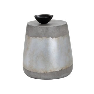 ARIES CONCRETE ACCENT TABLE - SILVER