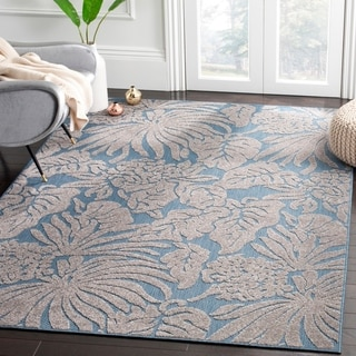 Safavieh Monroe Indoor/ Outdoor Blue Runner (2' x 8')