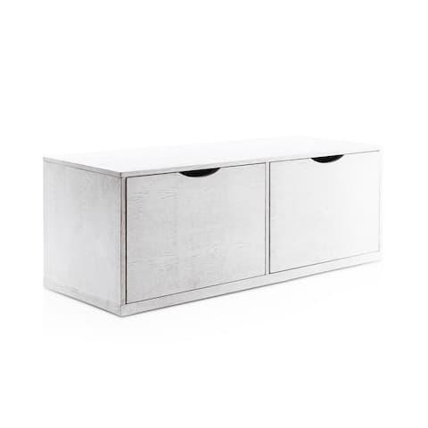 Porch & Den Newport Grey Storage Cabinet