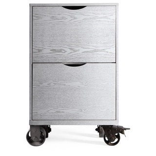 Hives and Honey Bauer Grey Wood Mobile Single Storage Base