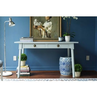 Haven Home Dalton Grey Writing Desk for Work Space by Hives & Honey
