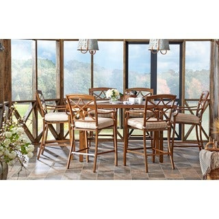 Trisha Yearwood Outdoor Espadrille Driftwood High Dining Set