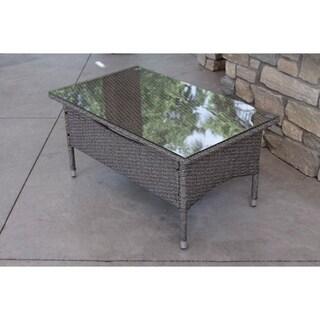 Modern Outdoor Grey Rattan Wicker Dining Table