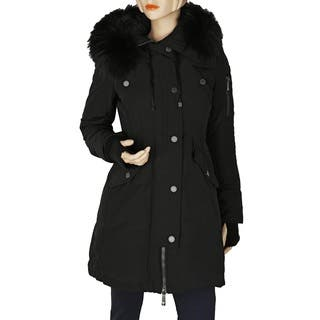 BCBG Max Azria Women's Sahara Black Blend Puffer Coat|https://ak1.ostkcdn.com/images/products/13430771/P20123058.jpg?impolicy=medium